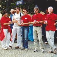 Bild Das Organisationsteam des 13. Stadtlaufes während einer kleinen Verschnaufspause